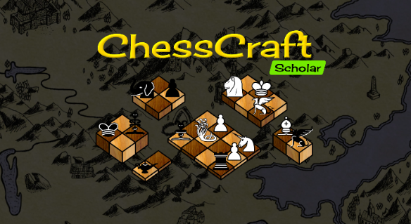 a screenshot of the main menu banner with ChessCraft scholar activated